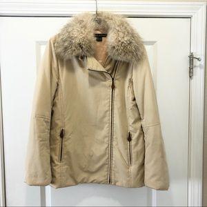 RALPH Lauren Detachable Fur Collar Jacket